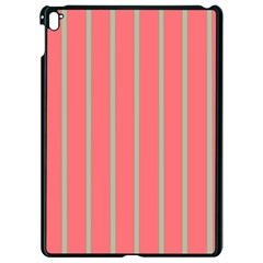 Line Red Grey Vertical Apple Ipad Pro 9 7   Black Seamless Case by Mariart