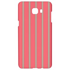 Line Red Grey Vertical Samsung C9 Pro Hardshell Case  by Mariart