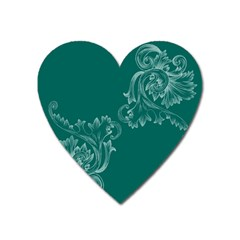 Leaf Green Blue Sexy Heart Magnet by Mariart