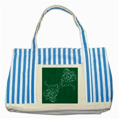 Leaf Green Blue Sexy Striped Blue Tote Bag by Mariart