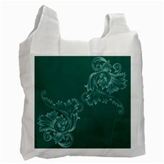Leaf Green Blue Sexy Recycle Bag (one Side) by Mariart