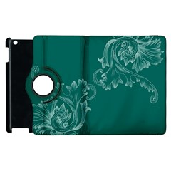 Leaf Green Blue Sexy Apple Ipad 2 Flip 360 Case by Mariart