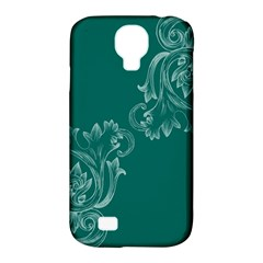 Leaf Green Blue Sexy Samsung Galaxy S4 Classic Hardshell Case (pc+silicone) by Mariart