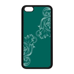 Leaf Green Blue Sexy Apple Iphone 5c Seamless Case (black) by Mariart