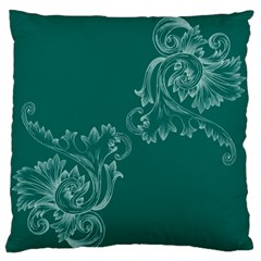 Leaf Green Blue Sexy Large Flano Cushion Case (two Sides)