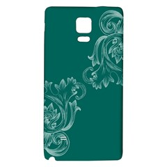 Leaf Green Blue Sexy Galaxy Note 4 Back Case by Mariart