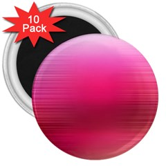 Line Pink Space Sexy Rainbow 3  Magnets (10 Pack)  by Mariart