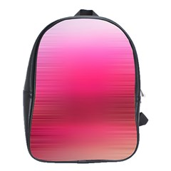 Line Pink Space Sexy Rainbow School Bag (large)