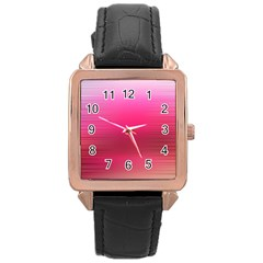 Line Pink Space Sexy Rainbow Rose Gold Leather Watch  by Mariart