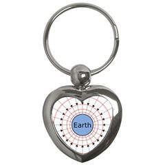 Magnetik Earth s Gravitational Line Triangle Key Chains (heart)  by Mariart