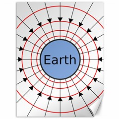 Magnetik Earth s Gravitational Line Triangle Canvas 36  X 48   by Mariart