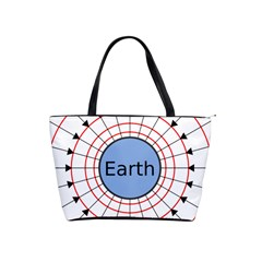 Magnetik Earth s Gravitational Line Triangle Shoulder Handbags by Mariart