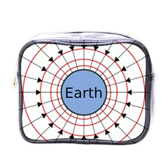 Magnetik Earth s Gravitational Line Triangle Mini Toiletries Bags by Mariart