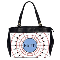 Magnetik Earth s Gravitational Line Triangle Office Handbags (2 Sides)