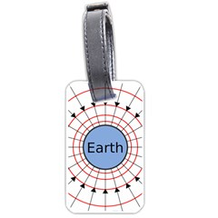 Magnetik Earth s Gravitational Line Triangle Luggage Tags (two Sides) by Mariart
