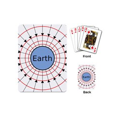 Magnetik Earth s Gravitational Line Triangle Playing Cards (mini)  by Mariart