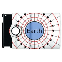 Magnetik Earth s Gravitational Line Triangle Apple Ipad 2 Flip 360 Case by Mariart