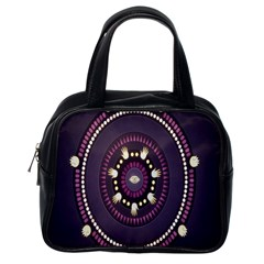 Mandalarium Hires Hand Eye Purple Classic Handbags (one Side) by Mariart