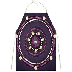 Mandalarium Hires Hand Eye Purple Full Print Aprons by Mariart