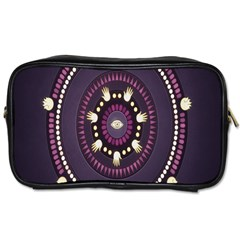 Mandalarium Hires Hand Eye Purple Toiletries Bags 2 Side by Mariart