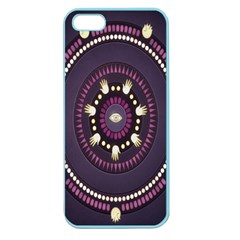 Mandalarium Hires Hand Eye Purple Apple Seamless Iphone 5 Case (color) by Mariart
