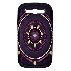 Mandalarium Hires Hand Eye Purple Samsung Galaxy S Iii Hardshell Case (pc+silicone) by Mariart