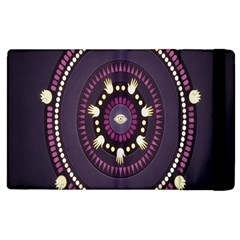 Mandalarium Hires Hand Eye Purple Apple Ipad 2 Flip Case by Mariart