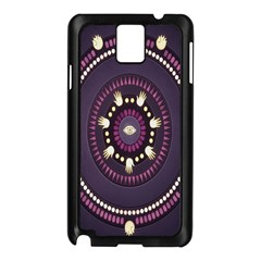 Mandalarium Hires Hand Eye Purple Samsung Galaxy Note 3 N9005 Case (black) by Mariart