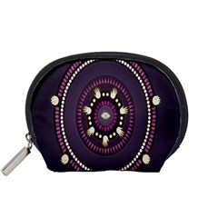 Mandalarium Hires Hand Eye Purple Accessory Pouches (small)  by Mariart
