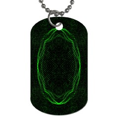 Green Foam Waves Polygon Animation Kaleida Motion Dog Tag (two Sides) by Mariart