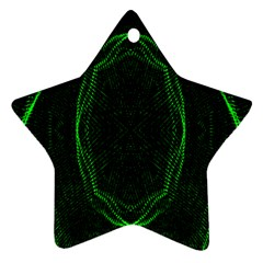 Green Foam Waves Polygon Animation Kaleida Motion Star Ornament (two Sides) by Mariart