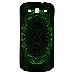 Green Foam Waves Polygon Animation Kaleida Motion Samsung Galaxy S3 S Iii Classic Hardshell Back Case by Mariart