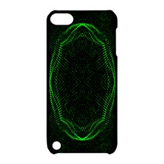 Green Foam Waves Polygon Animation Kaleida Motion Apple Ipod Touch 5 Hardshell Case With Stand by Mariart