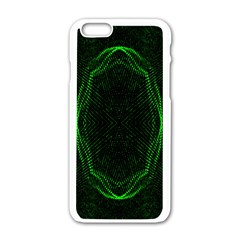 Green Foam Waves Polygon Animation Kaleida Motion Apple Iphone 6/6s White Enamel Case by Mariart