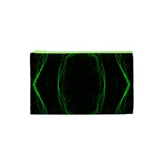 Green Foam Waves Polygon Animation Kaleida Motion Cosmetic Bag (xs) by Mariart