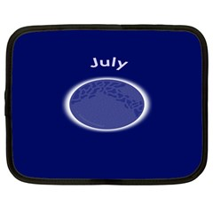 Moon July Blue Space Netbook Case (large) by Mariart