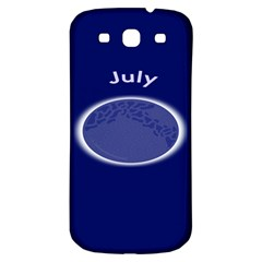 Moon July Blue Space Samsung Galaxy S3 S Iii Classic Hardshell Back Case by Mariart