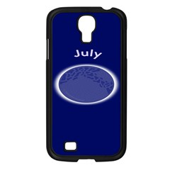 Moon July Blue Space Samsung Galaxy S4 I9500/ I9505 Case (black) by Mariart