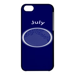 Moon July Blue Space Apple Iphone 5c Hardshell Case by Mariart