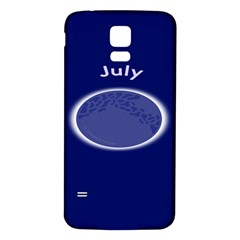 Moon July Blue Space Samsung Galaxy S5 Back Case (white) by Mariart