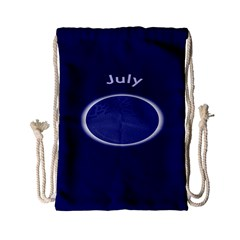 Moon July Blue Space Drawstring Bag (small) by Mariart