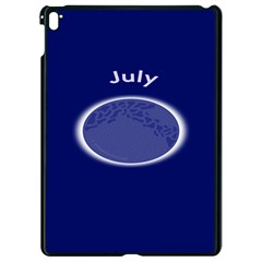 Moon July Blue Space Apple Ipad Pro 9 7   Black Seamless Case by Mariart