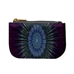 Peaceful Flower Formation Sparkling Space Mini Coin Purses by Mariart