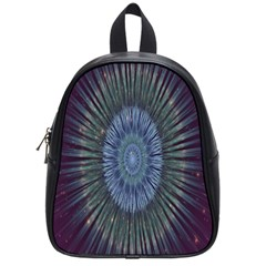 Peaceful Flower Formation Sparkling Space School Bag (small) by Mariart