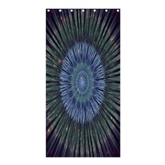 Peaceful Flower Formation Sparkling Space Shower Curtain 36  X 72  (stall)  by Mariart