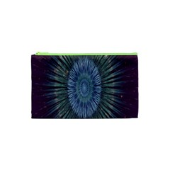 Peaceful Flower Formation Sparkling Space Cosmetic Bag (xs) by Mariart