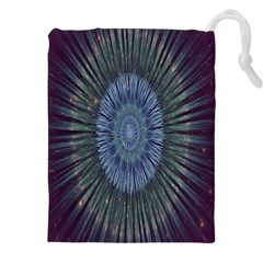 Peaceful Flower Formation Sparkling Space Drawstring Pouches (xxl) by Mariart