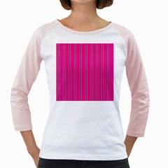 Pink Line Vertical Purple Yellow Fushia Girly Raglans by Mariart