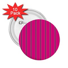 Pink Line Vertical Purple Yellow Fushia 2 25  Buttons (10 Pack)  by Mariart