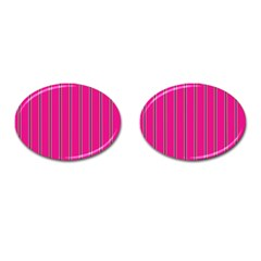 Pink Line Vertical Purple Yellow Fushia Cufflinks (oval) by Mariart